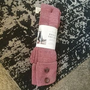 Simply Noelle Pink Boot Socks with Buttons